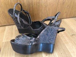 Burberry Python Wedges Keil Sandaletten Leder Top Luxus