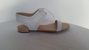 Burberry Roman Sandals white leather