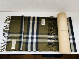 Burberry Cashmere Scarf dark green cashmere