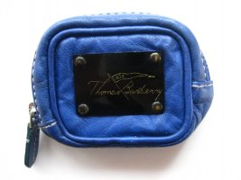 Burberry Key Chain steel blue leather
