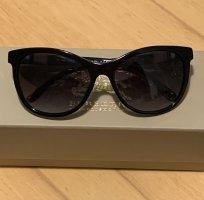 Burberry Owalne okulary przeciwsłoneczne czarny
