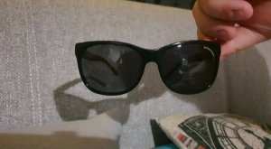 Burberry Gafas de sol cuadradas burdeos