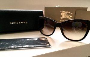 Burberry Lunettes de soleil angulaires brun-doré