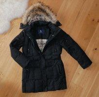 Burberry Wintermantel Mantel Gr40 L Winterjacke schwarz Daunenmantel Jacke Fell Pelz