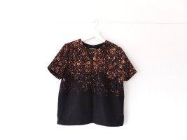 Burberry Woll Shirt Pullover schwarz braun Gr. 38 40 Muster Print