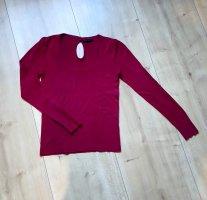Burgunderfarbener Pullover von Mango