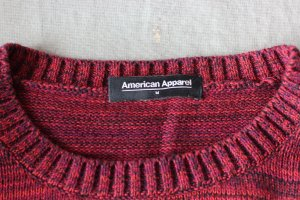 American Apparel Kraagloze sweater veelkleurig Katoen