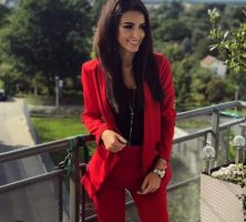 Business Suit dark red