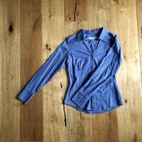Business Bluse blau Baumwolle