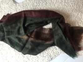 Zara Écharpe en tricot brun-vert forêt