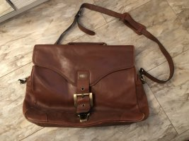 Pike Briefcase cognac-coloured leather