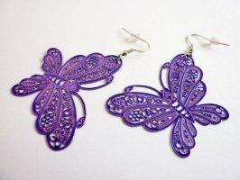 Pendientes colgante violeta oscuro-violeta azulado