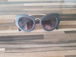 Butterfly Sonnenbrille in matt schwarz gold