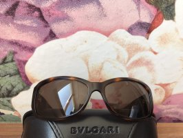 Bvlgari Oval Sunglasses dark brown-brown