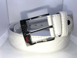 C&C California Leather Belt white leather