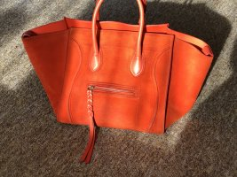 C'eline Phantom tote Sued orange