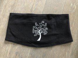 Handmade Ceinture en tissu noir-gris clair coton