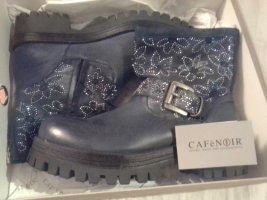 Café Noir Heel Boots black-blue leather