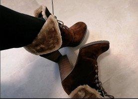 CaféNoir Stiefelette Boots Braun Beige Textil 39