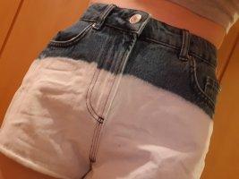 Calliope Short en jean blanc-bleu jean