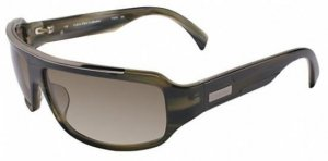 Calvin Klein Oval Sunglasses black brown mixture fibre