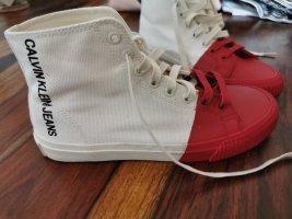 Calvin Klein Sneaker stringata bianco-rosso