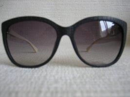 Calvin Klein Kwadratowe okulary przeciwsłoneczne czarny-biały