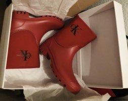 Calvin Klein Botte en caoutchouc rouge foncé-rouge carmin