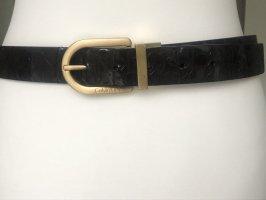Calvin Klein Pasek do pończoch ciemnobrązowy