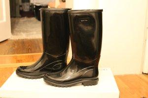Calvin Klein Gumowe buty czarny-biały