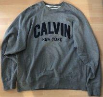 Calvin Klein Jeans Sweatshirt gris-bleu foncé