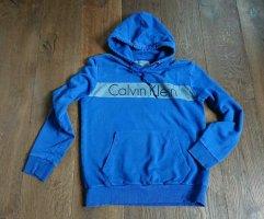 Calvin Klein, Hoodie, RETRO, Blau, Gr L,
