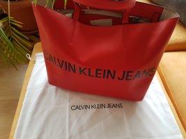 Calvin Klein Jeans - Shopper Handtasche - rot NEU