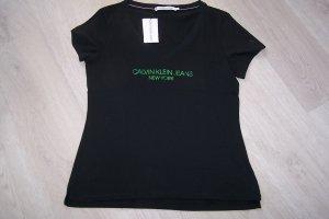 Calvin Klein Jeans V-hals shirt zwart Katoen