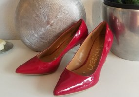 Calvin Klein Leder-Pumps in Rot (39)