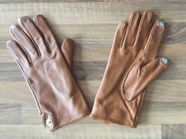 Calvin Klein Leather Gloves sand brown leather