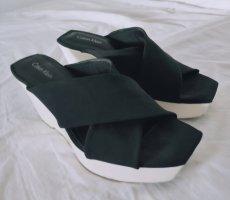 Calvin Klein Platform Sandals black-white mixture fibre