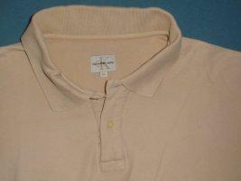 """""""Calvin Klein""""-Poloshirt, hellbeige, M-L,sehr guter Zust."""