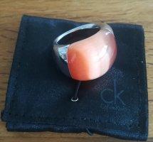Calvin Klein Ring Ellipse Grösse 56 Orangener Stein