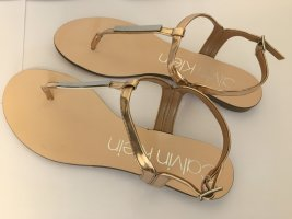 Calvin Klein Toe-Post sandals gold-colored