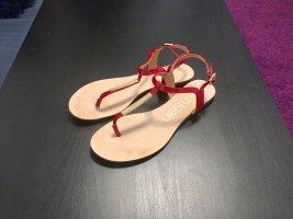 Calvin Klein Toe-Post sandals dark red-gold-colored