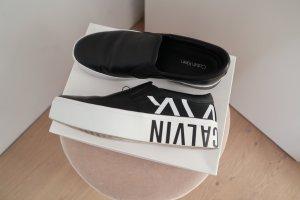 Calvin Klein Instapsneakers zwart-wit Gemengd weefsel