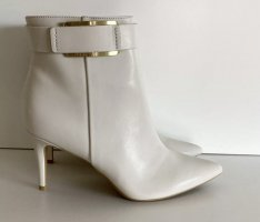 Calvin Klein Zipper Booties natural white leather