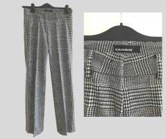 Cambio Pantalon en laine noir-blanc laine