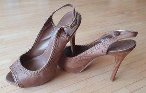Aldo Peep Toe Pumps camel-light brown leather