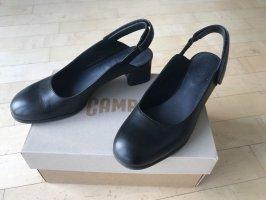 Camper Slingback Pumps black leather