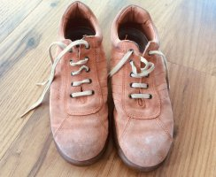 Camper Lace Shoes apricot leather