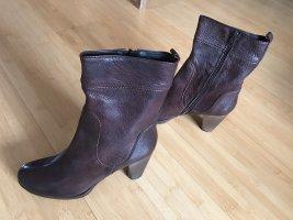 Candice Cooper Bottines à fermeture éclair brun cuir