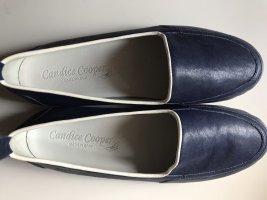 Candice Cooper Bailarinas con tacón con punta abierta azul oscuro-blanco