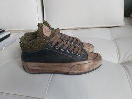 Candice Cooper Sneaker stringata verde bosco Pelle